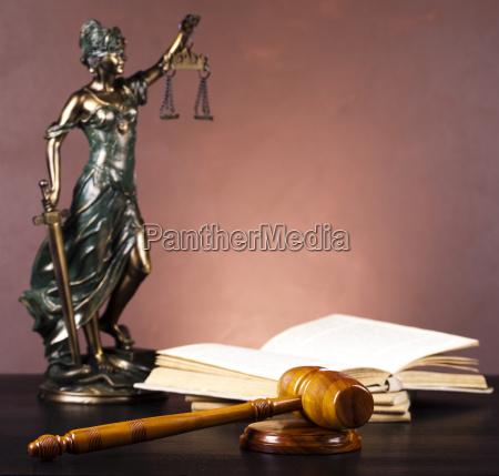 antique statue of justice law