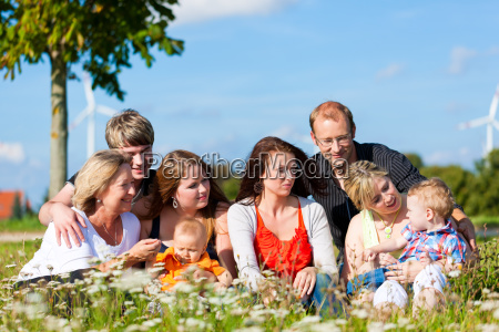 family and several generations fun