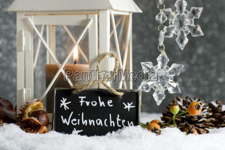 christmas motif with lantern