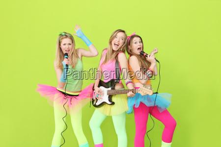 girl band group of girls singing