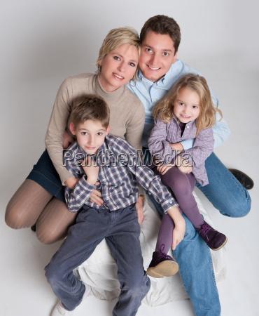 sitting family