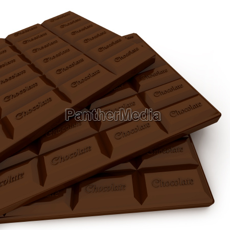 trio of chocolate tablets