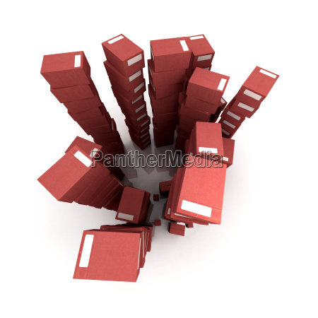piles of red packages