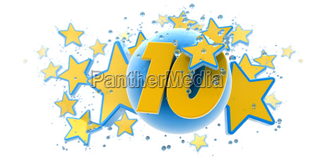 tenth anniversary blue and yellow