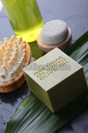 closeup of natural bodycare products