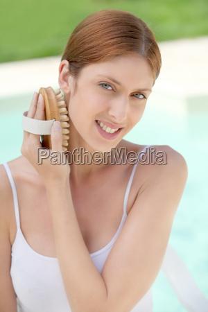 beautiful woman and bodycare