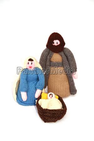 christmas holiday crib scene joseph mary