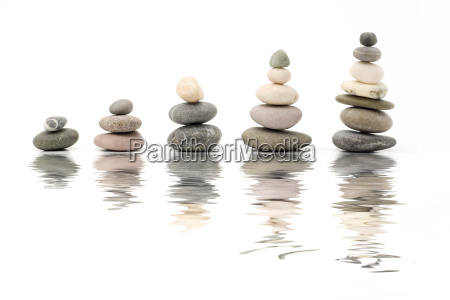 pebbles with reflection