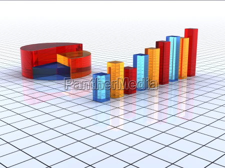 transparent colorful graph bars