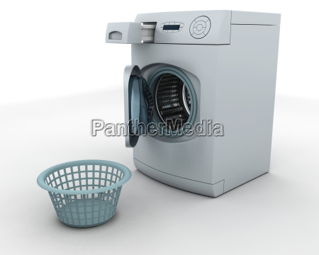 washing machine and laundry basket
