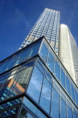 skyscraper in frankfurt skyscraper with reflection