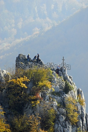 climber in the upper danube valley