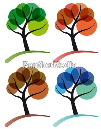 tree four seasons