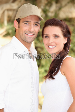 couple posing in nature