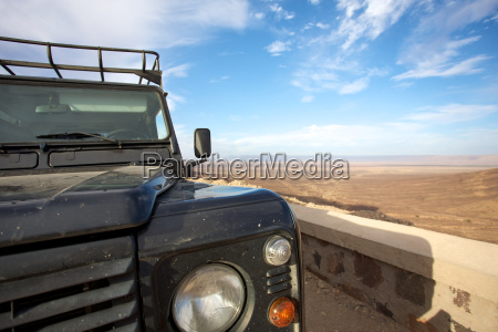 the car and the desert