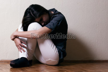 depressed tenage girl