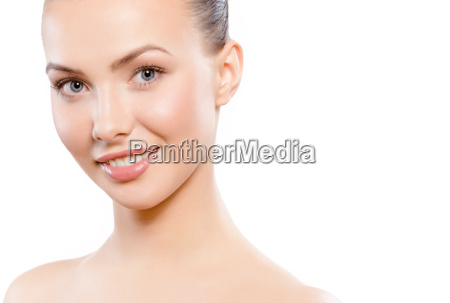 young adult caucasian woman smiling