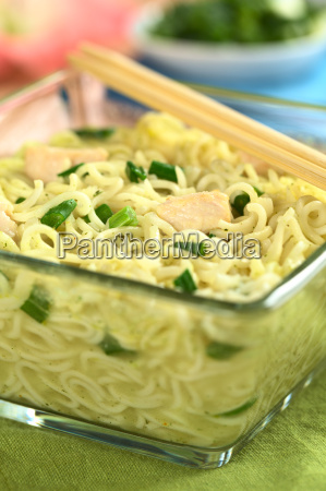 asian noodle soup with chicken