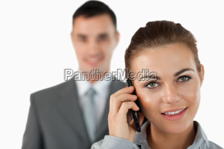 close up of confident businessman with