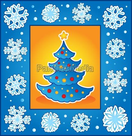 christmas theme greeting card 5