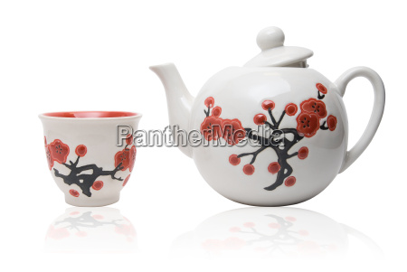 tea things in asian style with