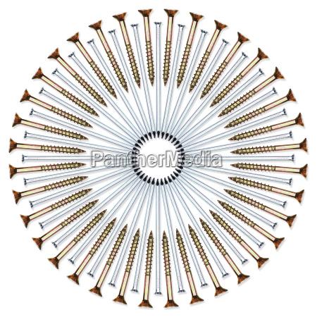 screw nail circle