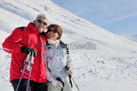a couple at ski season