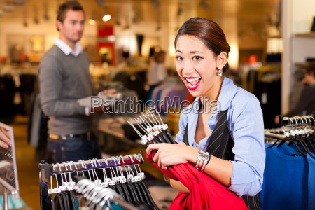 woman in a mall while shopping