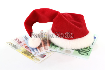 christmas hat with money