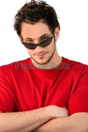 cool man wearing sunglasses
