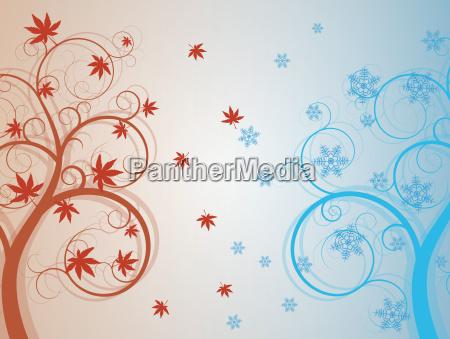 autum and winter tree