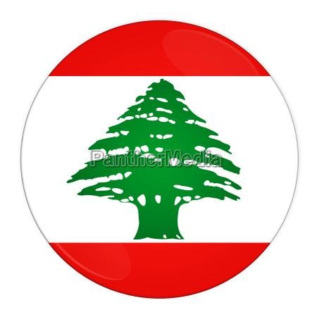 lebanon button with flag