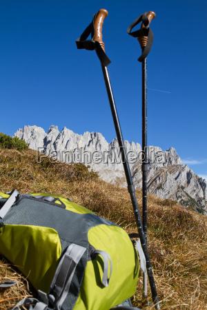 mountain hiking in the zahmer kaiser