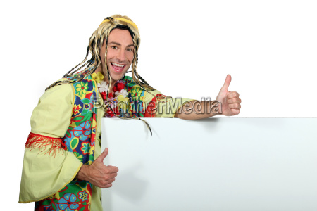 man in funny hippy costume