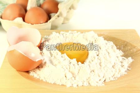 fresh baking ingredients