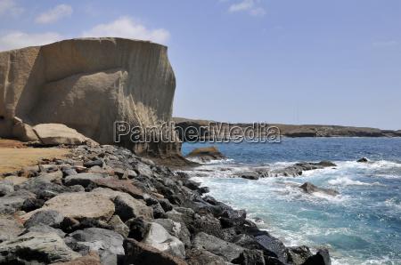 rocky coast of san miguel at