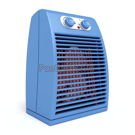 blue electric heater