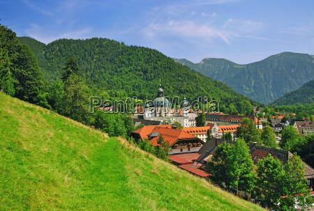 monastery ettal near oberammergau in oberbayern
