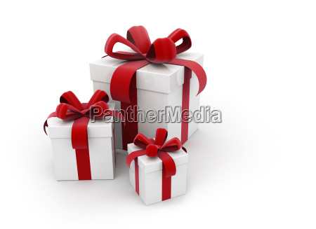 red ribbon gift boxes