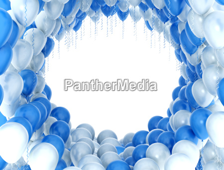 white and blue party balloons