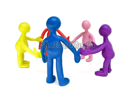 look on group of plasticine colored