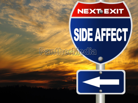 side affect road sign