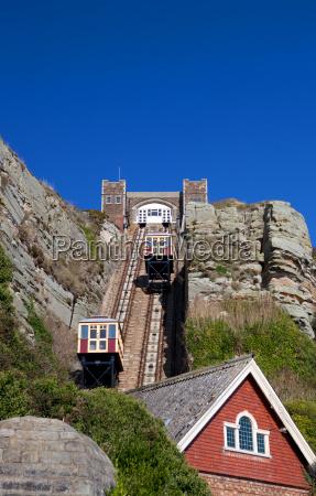 funicular train cliff railway tram hastings