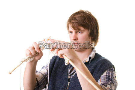 knitting man craft