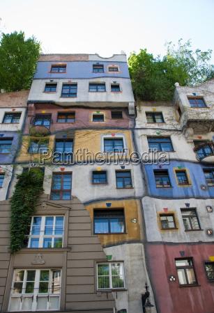 hundertwasser facade view from the