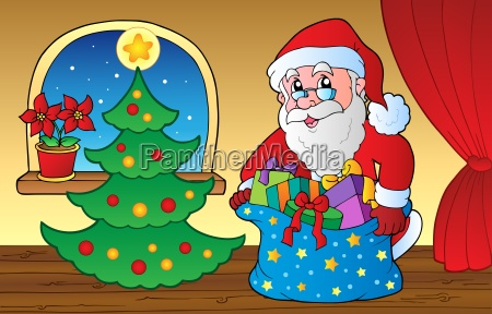 santa claus indoor scene 3