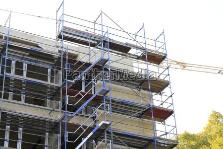 construction site in closeup