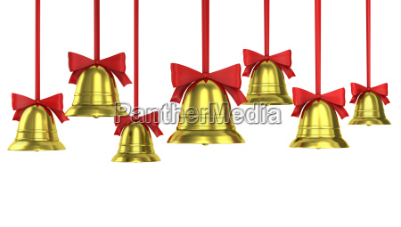 a lot of christmas bells with