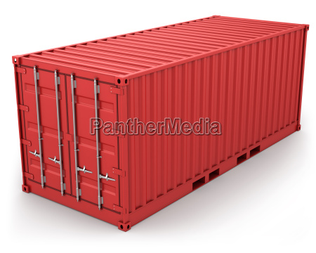 red, freight, container, isolated - 5920789