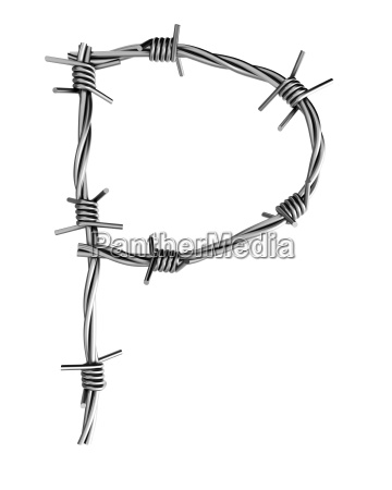 barbed wire alphabet
